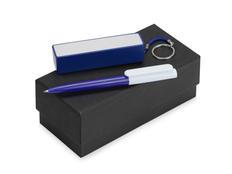 Набор Essentials Umbo: ручка шариковая Umbo, зарядное устройство Сатурн 2200 mAh, синий фото