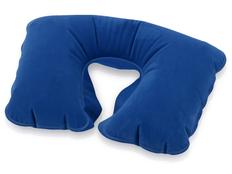 Подушка надувная под голову, синий фото