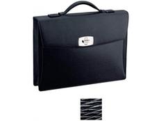 Портфель S.T. Dupont Contraste, натуральная кожа, металлическая фурнитура, черный фото