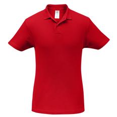 Рубашка поло B&C ID.001, красная фото