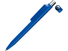 Ручка шариковая пластиковая Uma On Top Si F, синяя фото