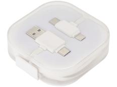 Кабель зарядный USB 3 в 1: micro USB / Lightning / Type C, Avenue, белый фото