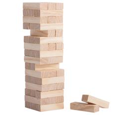 Игра Деревянная башня мини, бежевый фото