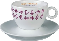 Чашка с блюдцем для кофе-латте Cara Mia, белый фото