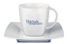 Фарфоровая чашка с блюдцем Maxim, белый фото