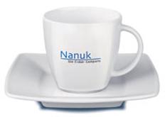 Фарфоровая чашка с блюдцем Maxim Espresso, 0,09 л., белый фото