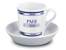 Чашка с блюдцем Tric Espresso, белый фото