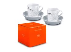 Чашка и блюдце Tric Espresso set, белый фото