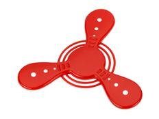 Летающий пропеллер Фрисби, красный фото