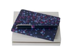 Набор Cacharel: блокнот A6 и ручка роллер, синий/ серый фото
