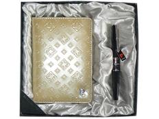 Набор Pierre Cardin: ручка шариковая, обложка для паспорта, бежевый / черный фото