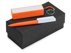 Набор Essentials Umbo: ручка шариковая Umbo, зарядное устройство Сатурн 2200 mAh, оранжевый фото