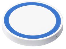 Зарядка беспроводная, белая/ синяя фото