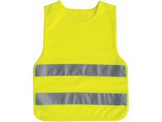 Жилет светоотражающий детский, желтый фото