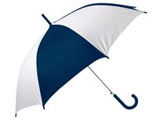 Зонт трость купол сегментами полуавтомат Тилос, белый / синий фото