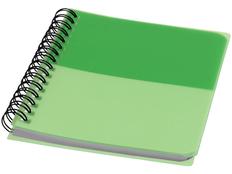 Блокнот в линейку на пружине Colour Block А6, 70 листов, зеленый фото