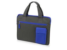 Конференц сумка для документов Session, графит/синий фото