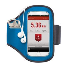 Спортивный чехол для телефона на руку, синий фото