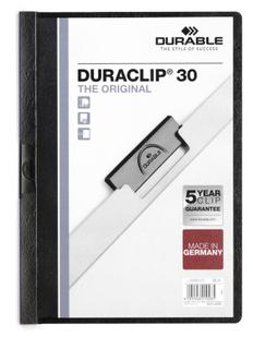 Папка с клипом DURACLIP ORIGINAL 30, черная фото