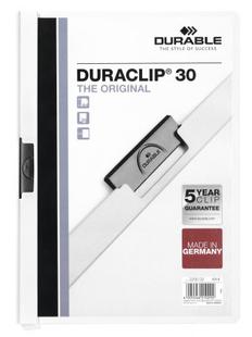 Папка с клипом DURACLIP ORIGINAL 30, белая фото