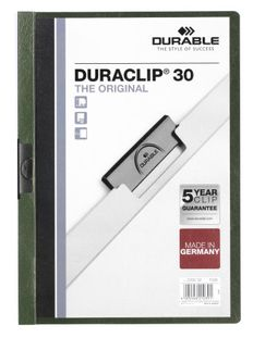Папка с клипом DURACLIP ORIGINAL 30, зеленая фото