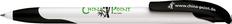 Ручка шариковая пластиковая Senator Challenger Soft, белая / черная фото