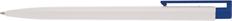 Ручка шариковая пластиковая Senator New Hit, белая / темно-синяя фото