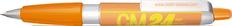 Ручка шариковая пластиковая Senator Big Pen XL Frosty, оранжевая / белая фото