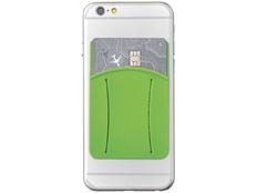 Картхолдер для телефона с отверстием для пальца, зеленый фото