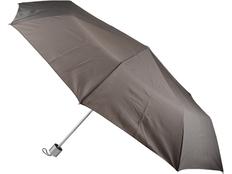 Зонт складной механический, серый/ коричневый фото