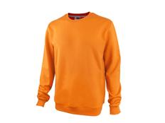 Свитшот унисекс Motion с начесом, оранжевый фото