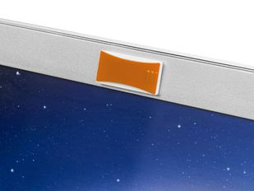 Закрывашка для камеры прямоугольная со шторкой, оранжевая фото