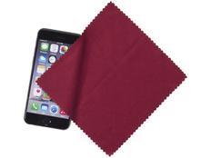 Салфетка для экранов, из микрофибры, бордовая фото