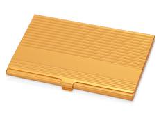 Визитница с рифленой крышкой, золотой фото