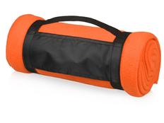 Плед флисовый 180 гр./м2, оранжевый фото