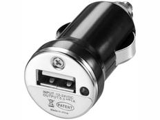 Зарядное устройство автомобильное Casco, черное фото