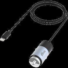 Зарядка в прикуриватель с кабелем Lighting Ritmix RM 5240AP, черно серое фото