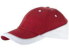 Бейсболка Draw 6 клиньев, красный/белый/серый фото