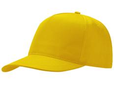 Бейсболка Poly 5 клиньев, желтый фото