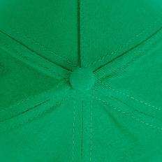 Бейсболка STANDARD, 5 клиньев, металлическая застежка, зеленая фото