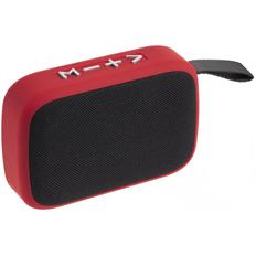 Колонка беспроводная с FM радио Borsetta, красная фото
