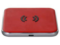 Беспроводное зарядное устройство Rombica NEO Energy, красное/чёрное фото