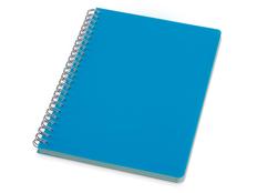 Блокнот в линейку на пружине Happy Colors L А5, 64 листа, голубой фото