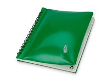 Блокнот в линейку на пружине Малокен А5, надувная обложка, 70 листов, зеленый фото
