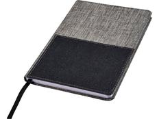 Блокнот А5 Mera RPET, серый/чёрный фото