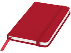 Блокнот в линейку на резинке Spectrum А6, 96 листов, красный фото