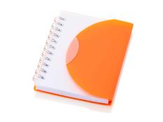 Блокнот нелинованный на пружине Post А7, 60 стр., оранжевый фото