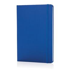 Блокнот в линейку на резинке XD Collection Basic А5, 72 стр., синий/ синий фото