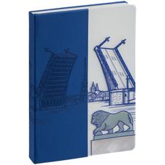 Блокнот недатированный Inspire «Санкт-Петербург», синий фото