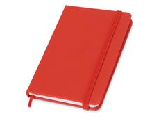 Блокнот в линейку на резинке Rainbow S, 80 листов, красный фото